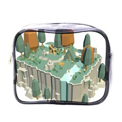 Camping Low Poly 3d Polygons Mini Toiletries Bags