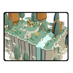 Camping Low Poly 3d Polygons Fleece Blanket (small) by Simbadda
