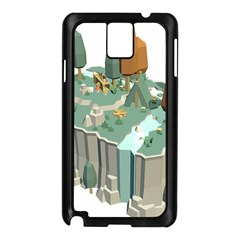 Camping Low Poly 3d Polygons Samsung Galaxy Note 3 N9005 Case (black)