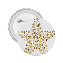 Star Fractal Gold Shiny Metallic 2 25  Buttons