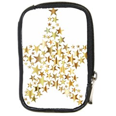 Star Fractal Gold Shiny Metallic Compact Camera Cases