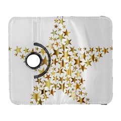 Star Fractal Gold Shiny Metallic Galaxy S3 (flip/folio)