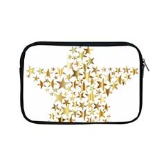 Star Fractal Gold Shiny Metallic Apple Ipad Mini Zipper Cases