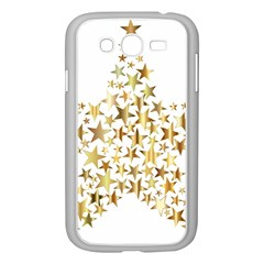 Star Fractal Gold Shiny Metallic Samsung Galaxy Grand Duos I9082 Case (white)