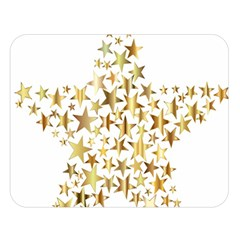 Star Fractal Gold Shiny Metallic Double Sided Flano Blanket (large)