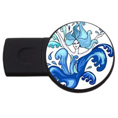 Abstract Colourful Comic Characters Usb Flash Drive Round (4 Gb)