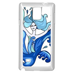 Abstract Colourful Comic Characters Samsung Galaxy Note 4 Case (white)