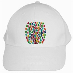 Tree Share Pieces Of The Puzzle White Cap
