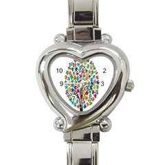 Tree Share Pieces Of The Puzzle Heart Italian Charm Watch by Simbadda