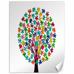 Tree Share Pieces Of The Puzzle Canvas 12  X 16