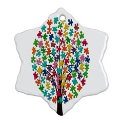 Tree Share Pieces Of The Puzzle Ornament (snowflake)