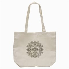 Floral Flower Mandala Decorative Tote Bag (cream)