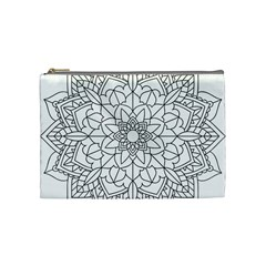 Floral Flower Mandala Decorative Cosmetic Bag (medium)