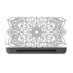 Floral Flower Mandala Decorative Memory Card Reader With Cf by Simbadda