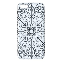Floral Flower Mandala Decorative Apple Iphone 5 Premium Hardshell Case by Simbadda