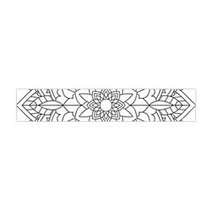 Floral Flower Mandala Decorative Flano Scarf (mini)