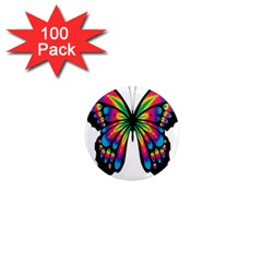 Abstract Animal Art Butterfly 1  Mini Magnets (100 Pack)