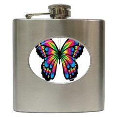 Abstract Animal Art Butterfly Hip Flask (6 Oz)