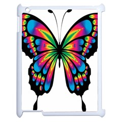 Abstract Animal Art Butterfly Apple Ipad 2 Case (white) by Simbadda