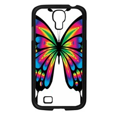Abstract Animal Art Butterfly Samsung Galaxy S4 I9500/ I9505 Case (black)