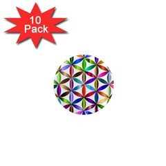 Flower Of Life Sacred Geometry 1  Mini Magnet (10 Pack)  by Simbadda