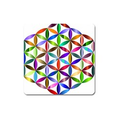 Flower Of Life Sacred Geometry Square Magnet by Simbadda