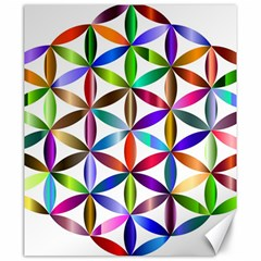 Flower Of Life Sacred Geometry Canvas 20  X 24