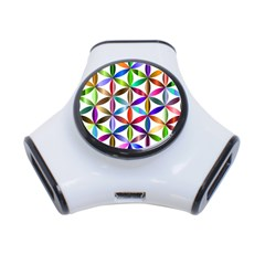 Flower Of Life Sacred Geometry 3 Port Usb Hub