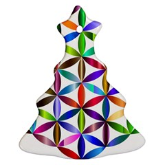 Flower Of Life Sacred Geometry Ornament (christmas Tree)