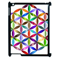 Flower Of Life Sacred Geometry Apple Ipad 2 Case (black) by Simbadda