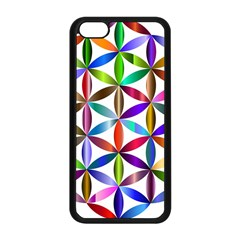 Flower Of Life Sacred Geometry Apple Iphone 5c Seamless Case (black) by Simbadda