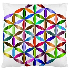 Flower Of Life Sacred Geometry Large Flano Cushion Case (two Sides)