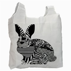 Floral Flourish Decorative Recycle Bag (one Side)