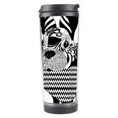 Floral Flourish Decorative Travel Tumbler