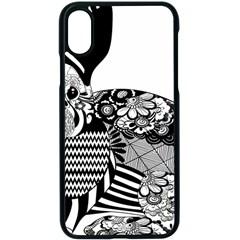 Floral Flourish Decorative Apple Iphone X Seamless Case (black)