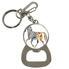 Horse Equine Psychedelic Abstract Button Necklaces