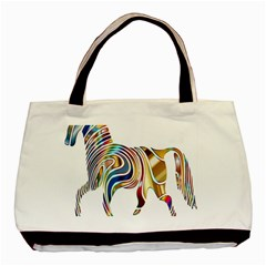 Horse Equine Psychedelic Abstract Basic Tote Bag