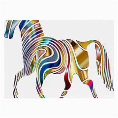 Horse Equine Psychedelic Abstract Large Glasses Cloth (2 Side)