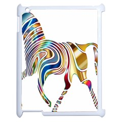 Horse Equine Psychedelic Abstract Apple Ipad 2 Case (white) by Simbadda