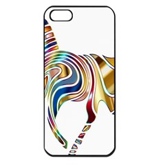 Horse Equine Psychedelic Abstract Apple Iphone 5 Seamless Case (black)