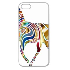 Horse Equine Psychedelic Abstract Apple Seamless Iphone 5 Case (clear) by Simbadda
