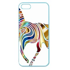 Horse Equine Psychedelic Abstract Apple Seamless Iphone 5 Case (color) by Simbadda