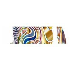 Horse Equine Psychedelic Abstract Satin Scarf (oblong) by Simbadda