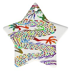 Dragon Asian Mythical Colorful Ornament (star)