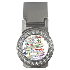Dragon Asian Mythical Colorful Money Clips (cz)