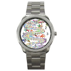 Dragon Asian Mythical Colorful Sport Metal Watch by Simbadda