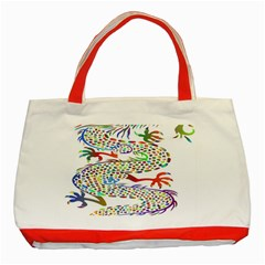 Dragon Asian Mythical Colorful Classic Tote Bag (red)