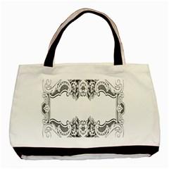 Vintage Ornamental Decorative Basic Tote Bag