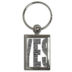 Yes No Typography Type Text Words Key Chains (rectangle)