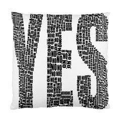 Yes No Typography Type Text Words Standard Cushion Case (one Side)